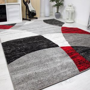 tapis salon blanc noir achat vente pas cher. Black Bedroom Furniture Sets. Home Design Ideas