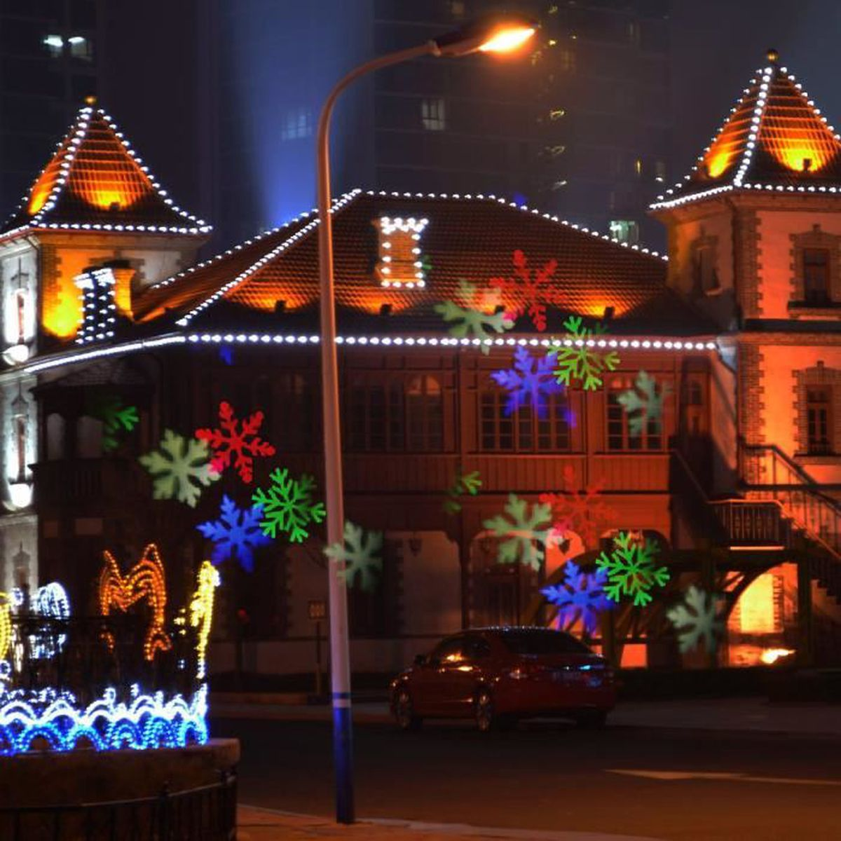 Deco De Noel Dans Le Jardin lumière led projecteur de lumiere étanche pour décoration