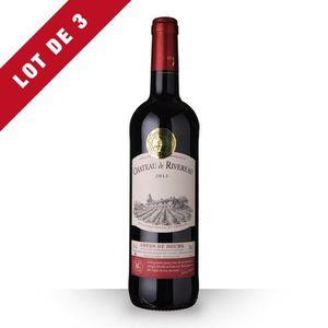 VIN ROUGE 3X Château de Rivereau Grande Cuvée 2013 Rouge 75c