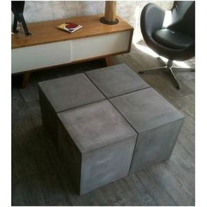 Table modulable aspect beton achat vente table a for Table a manger modulable