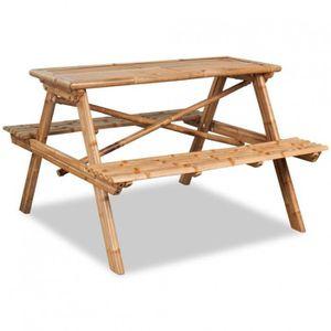 Table de pique-nique enfants avec bancs en bois de Pin ...
