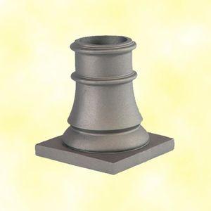PIQUET - POTEAU Embase fonte Hauteur 240mm Ø100mm socle carré