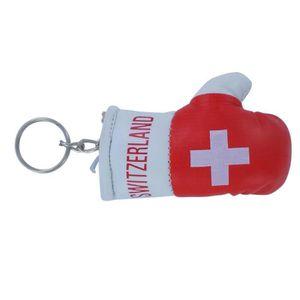 PORTE-CLÉS Porte cles  gant de boxe drapeau suisse