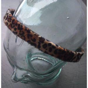 BANDEAU - SERRE-TÊTE serre tete tissus leopard marron noir femme cheveu