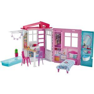 MAISON POUPÉE Barbie Mobilier Coffret Maison de Plain-pied à Emp