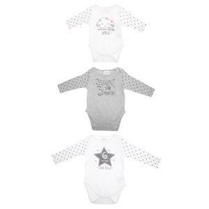 BODY Baby Town - Bodies à manches longues (Lot de 3)