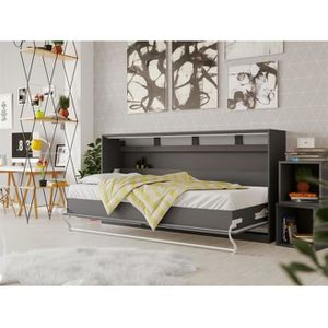 LIT ESCAMOTABLE SMARTBett Standard 90x200 horizontal anthracite  a