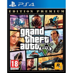JEU PS4 GTA V EDITION PREMIUM Jeu PS4 + 1 Skull Sticker Of