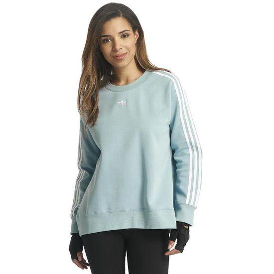 Adidas Femme Hauts // Sweat & Pull 3 Stripes Bleu - Achat ...