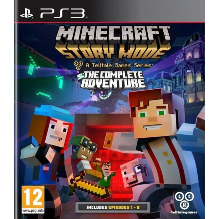 minecraft story mode complete edition jeu ps3 achat vente jeu ps3 minecraft story mode ce. Black Bedroom Furniture Sets. Home Design Ideas