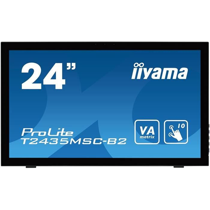 Écrans PC Iiyama T2435MSC-B2 Ecran PC 23,6- LED 1920 x 1080 6 ms HDMI-DP-DVI-D 365