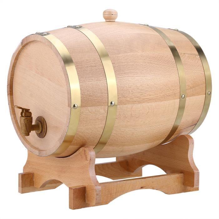 Distributeur de fûts de vin en bois de chêne de 10 litres d'époque pour la tequila de whisky bourbon-三组-DIN