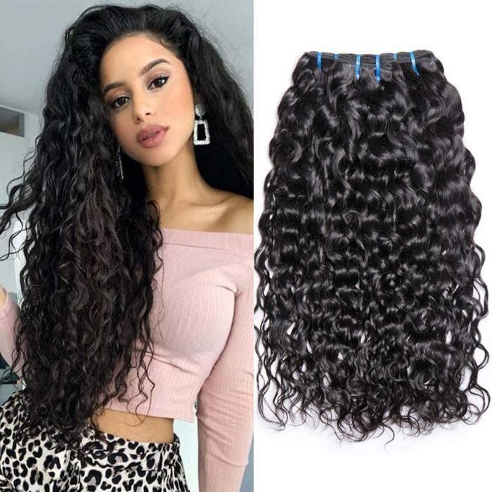 20 20 22 Inch Tissage Brésilien Vague D'eau Vierge Cheveux 3 Trames 300 Grammes Tissage Bresilien Boucle Couleur Naturelle