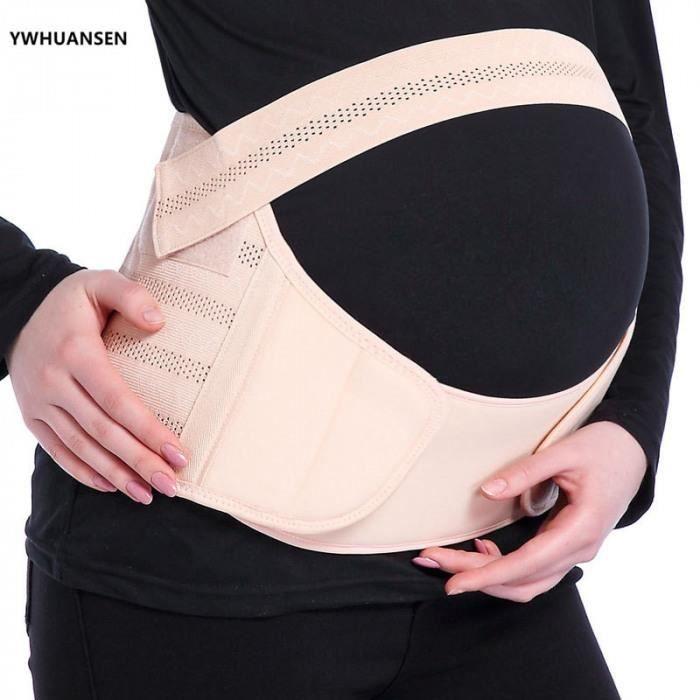 Version L - Blanc - Ywhuansen 3in1 Ceinture De Maternité Bandes Ventre Soutien Grossesse Soins Prénataux Bandage Athlétique