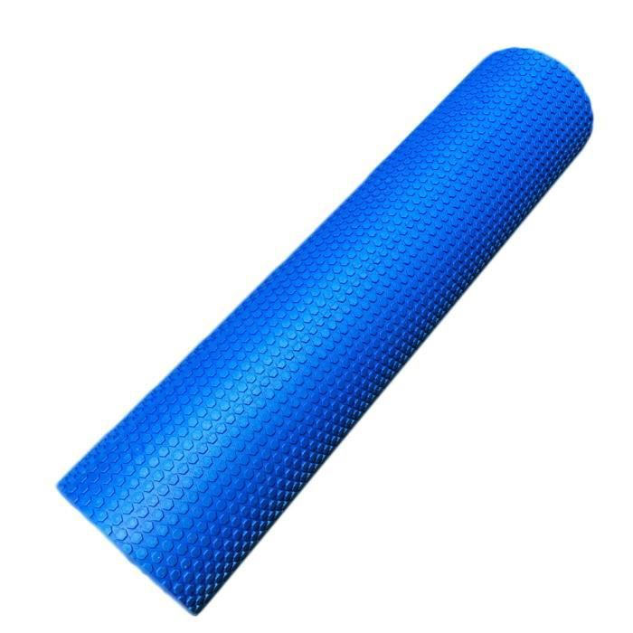 90x15cm EVA physiothérapie mousse solide rouleau yoga pilates massage du dos bleu