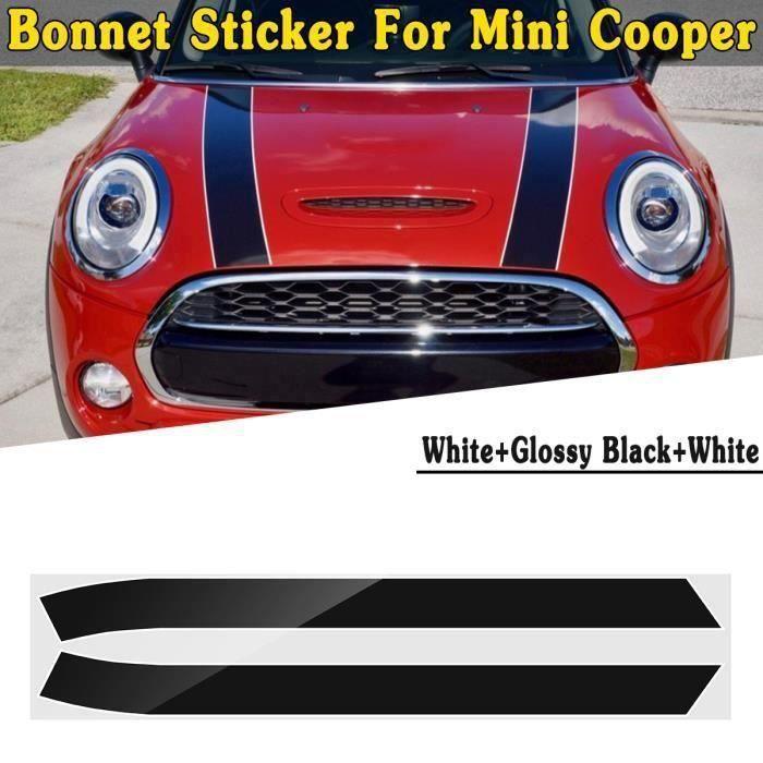 2PCS Moteur Capot Autocollant DIY Rayure Décoration Pour Mini Cooper Mini Cooper S TPYE G Bo44497
