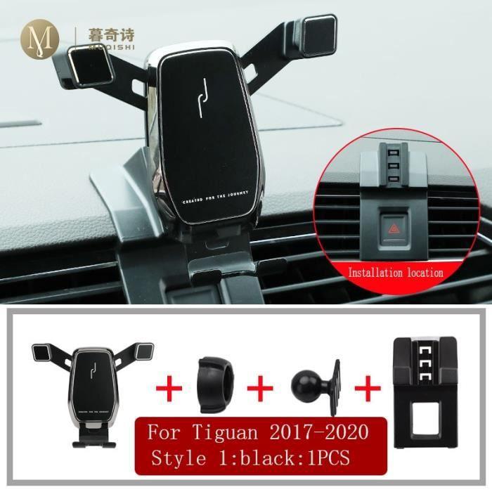Accessoires Voiture,Support de téléphone portable pour Volkswagen Tiguan 2017 2018 2019 2020, support de navigation - Type 1 black