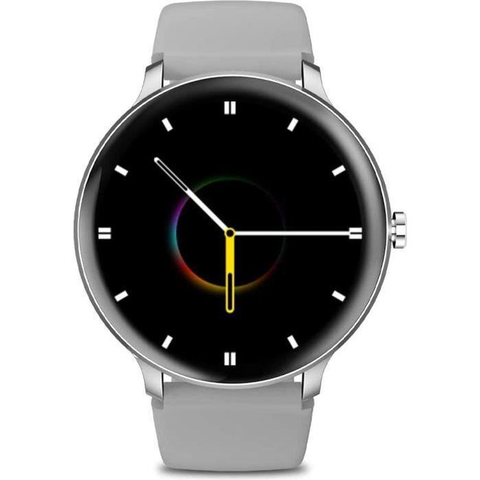 Montre Connectée Blackview X2 Smartwatch Sport Fitness Tracker 9 Modes Sportifs Montre Intelligente IP68 Android IOS - Argent