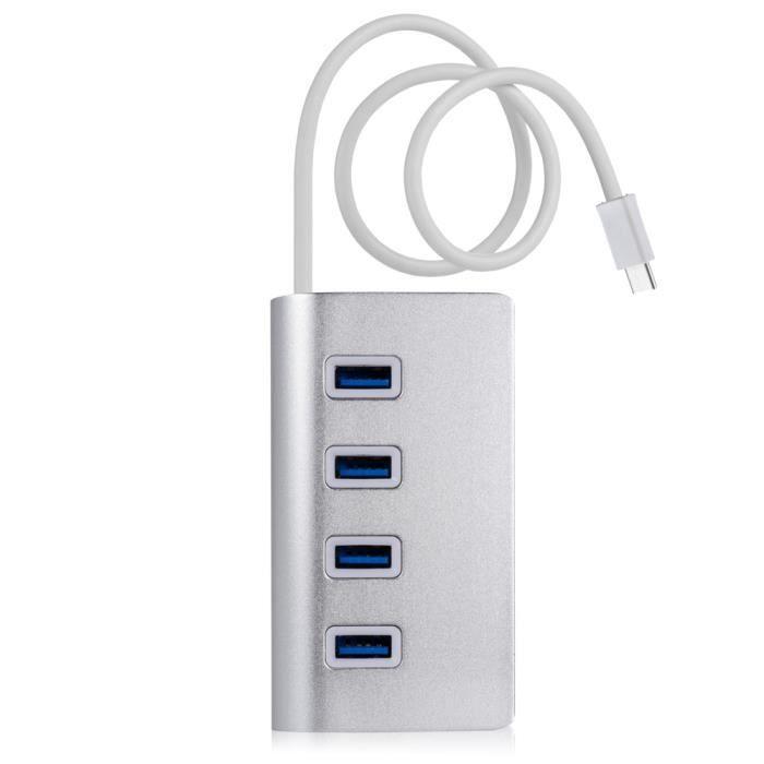 CABLING® Hub USB type C vers USB 3.0 4 Ports Adaptateur transfert de données 5Gb-s pour MacBook