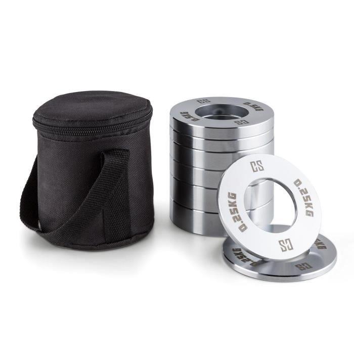 CAPITAL SPORTS Crumb Set - Fractional Plates - lot de 4 x 2 disques de 0,25kg à 1kg pour barre d'haltère