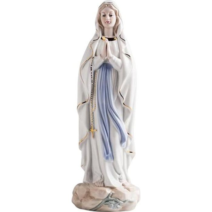 Style européen Céramique Christianisme Jésus, La Vierge Marie Statue En Céramique Décoratif Petits Ornements de Bureau Type A