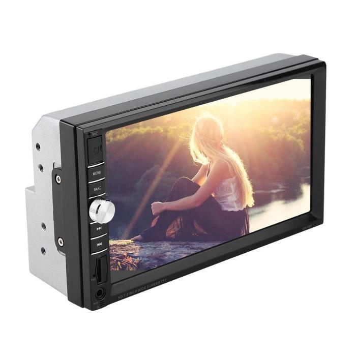HURRISE lecteur d'autoradio 7inch Double Din Car Multimedia Player Audio Stéréo FM Radio Écran Tactile