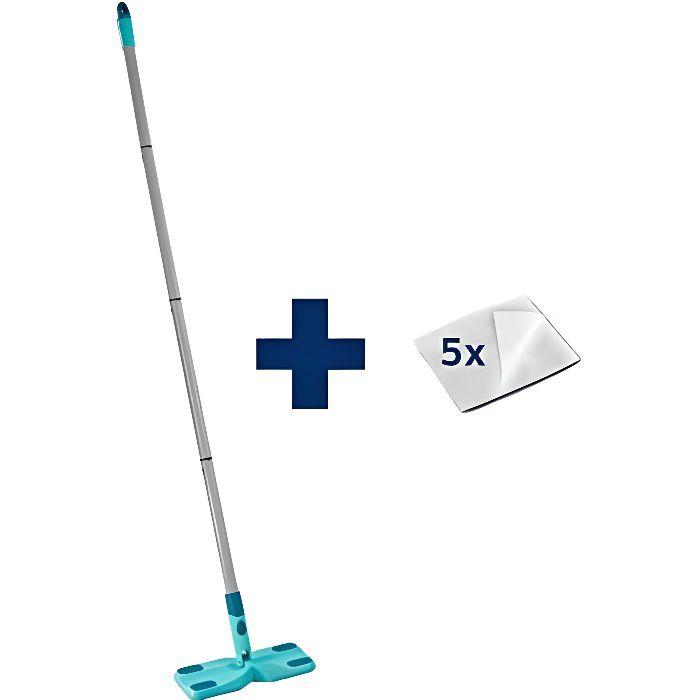 LEIFHEIT Set Clean & Away 56666 - Balai nettoyage sols secs avec lingettes dépoussiérantes