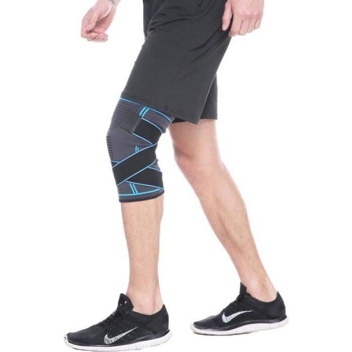 Genouillere Sport de Compression Genouillère Arthrose Knee Brace Pour Cross Fit, Course à Pied, Prévention la Douleur
