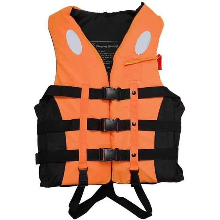 Gilet de sauvetage natation nautique Kayak Bateau Voile Veste de sauvetage Sécurité Aide de natation enfant adulte Orange L
