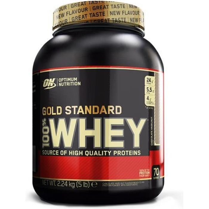 OPTIMUM NUTRITION Pot 100% Whey Gold Standard Chocolat - 908g