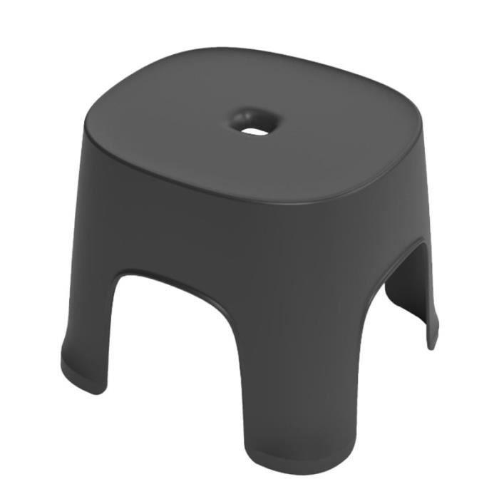 1 PC multi-usage tabouret en anti-dérapant bas chaussures portant salle de bain petit pour la maison (noir) TABOURET