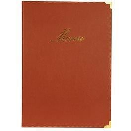 Protège menu classique A4 Rouge