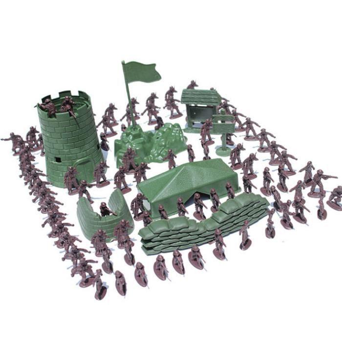 ACCESSOIRE DE FIGURINE Ensemble de jouets de jeu de combat de l'armée