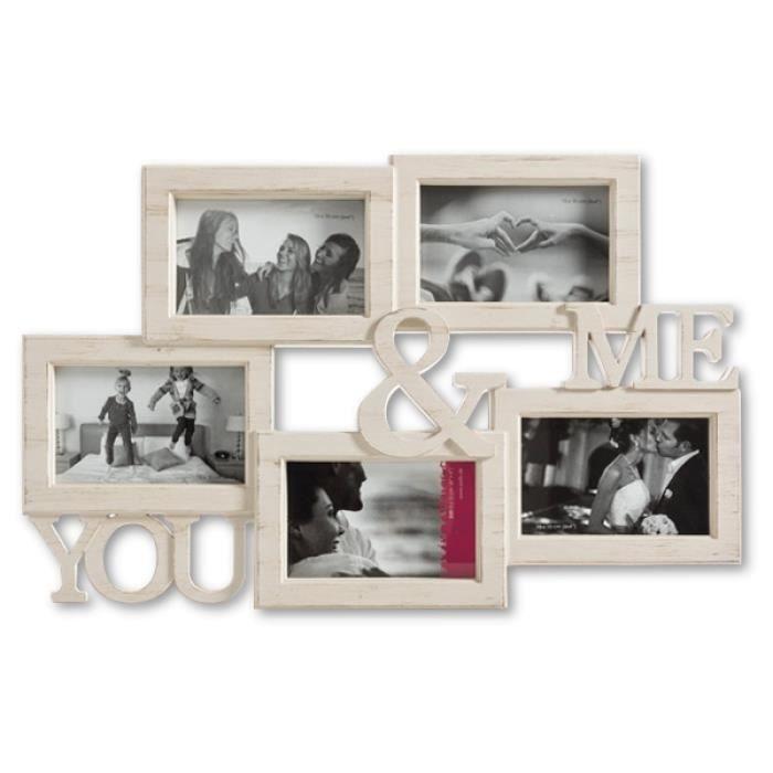 CADRE PHOTO Cadre photos Coconut You & Me vieilli * Matière :