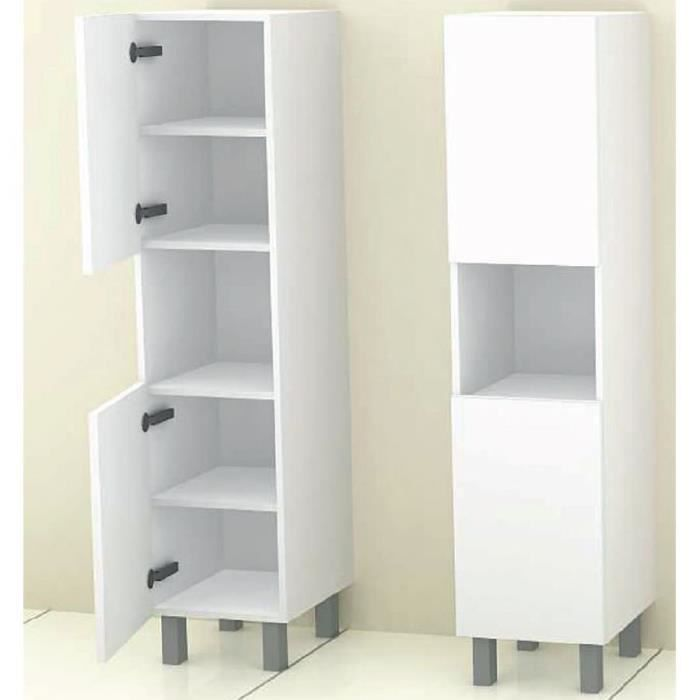armoire de salle de bain r versible cosmos blanc 35. Black Bedroom Furniture Sets. Home Design Ideas