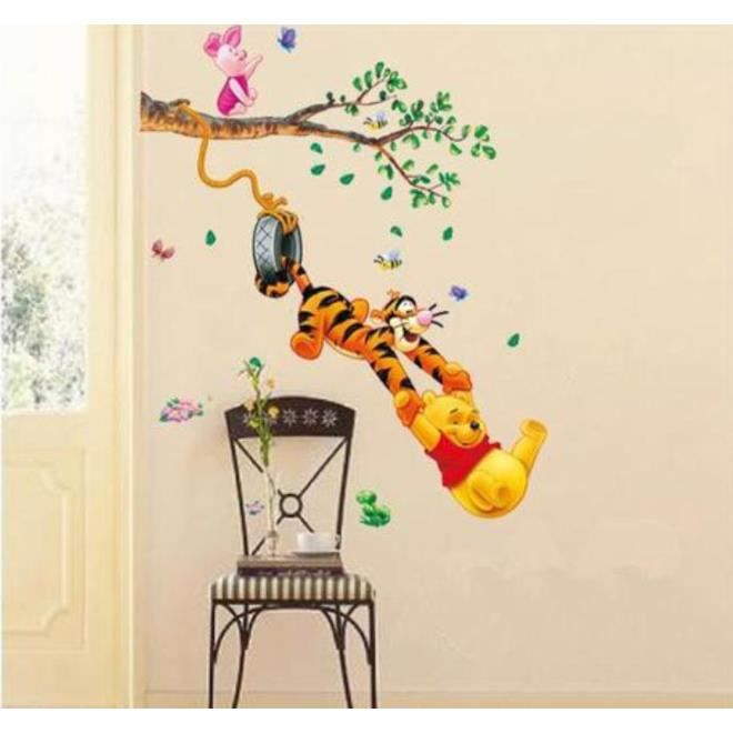 sticker winnie l 39 ourson walt disney achat vente stickers cdiscount. Black Bedroom Furniture Sets. Home Design Ideas