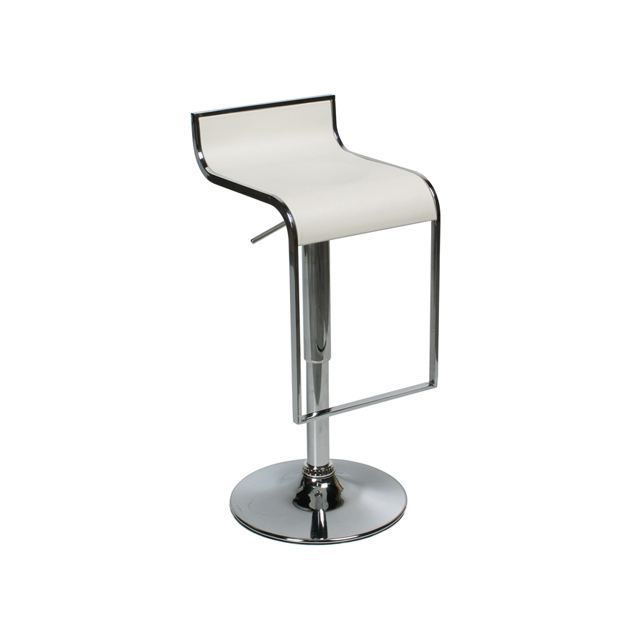 tabouret de bar moderne blanc yohan achat vente tabouret cdiscount. Black Bedroom Furniture Sets. Home Design Ideas