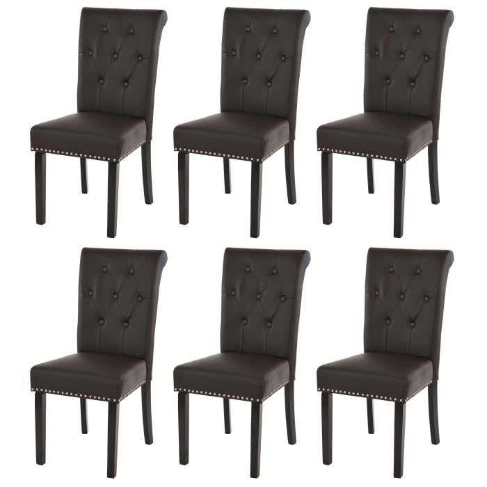 Lot de 6 chaises de salle manger chesterfield ii av for Lot de 6 chaise salle a manger
