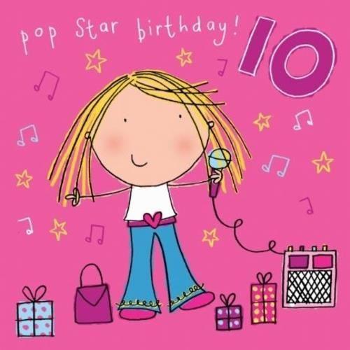 Incroyable Carte d'anniversaire fille - 10 ans - Achat / Vente faire-part ZE-78