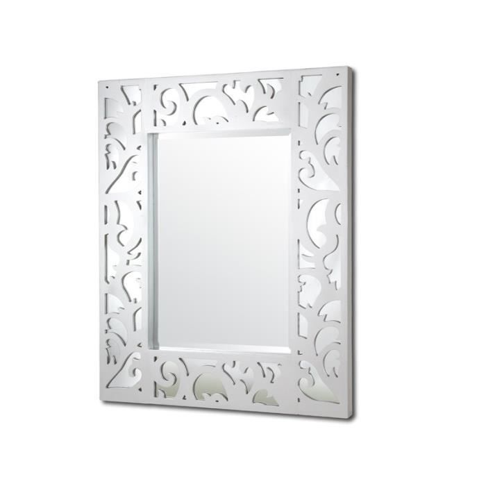 Miroir cadre blanc collection radiance achat vente for Collection miroir