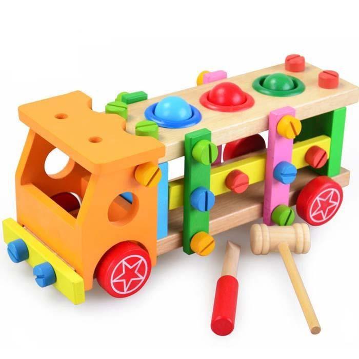 Jouet Démontage Assemblage Jeux de Construction Animé Voiture Jeep avec des Accessoires Pour ...
