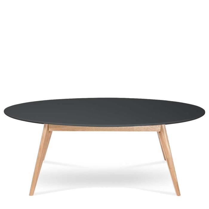 Table basse ovale design scandinave skoll couleur noir for Table basse design suedois