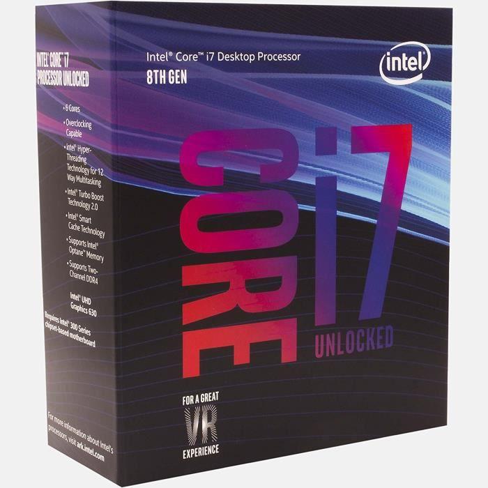 PROCESSEUR INTEL Processeur Core i7 i7-8700K Hexa-core - 3,70
