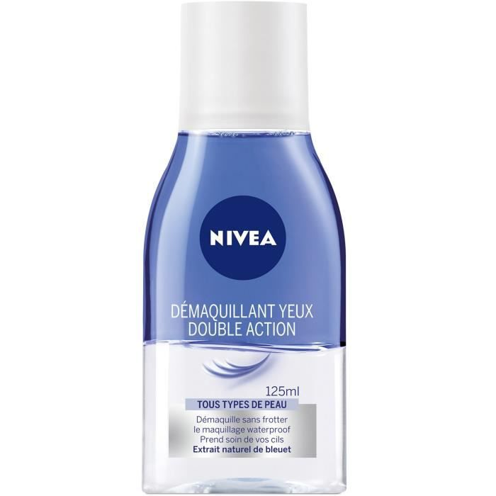 nivea d maquillant yeux double action waterproof pour tous types de peau 125 ml achat. Black Bedroom Furniture Sets. Home Design Ideas