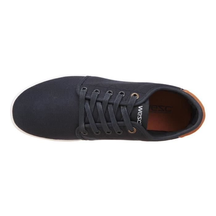 Off WESC Deck Low Top Homme Bleu Chaussures gganxqwf