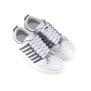 VIOLET PAILLETTES MAXI DSQUARED2 251 SOLE BLANC BASKETS 61avqpX