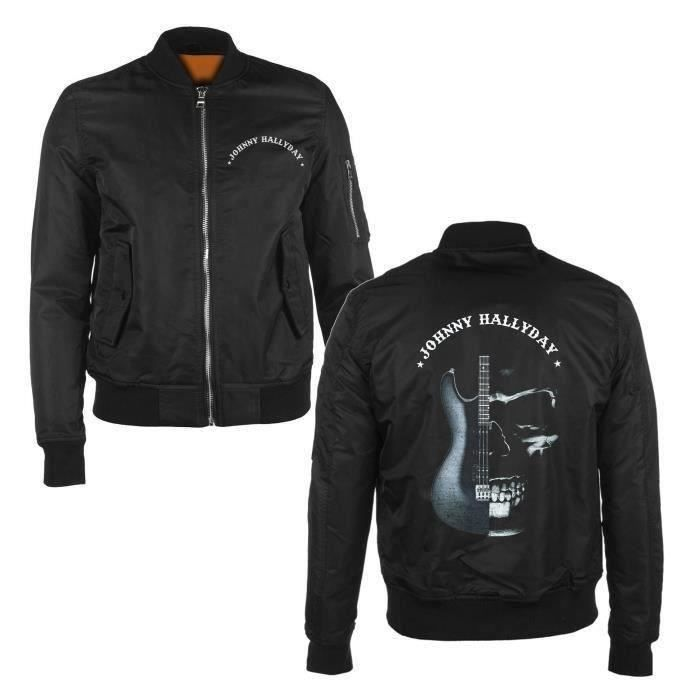 Bombers Guitare Johnny Hallyday - Homme - Noir