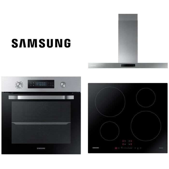 PACK SAMSUNG - NV66M3571BS - Four électrique encastrable + NZ64M3707AK/EF - Table de cuisson induction + NK36M5060SS/EF Hotte