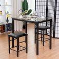 Ensemble table de cuisine haute et chaise