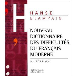 DICTIONNAIRES Nouveau dictionnaire des difficultés du français m